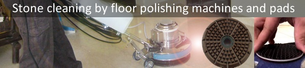floor polisher, floor polishing pads